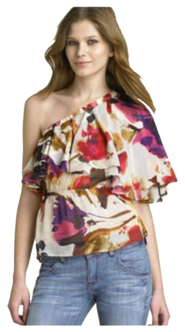 Preload https://img-static.tradesy.com/item/7409092/multi-color-one-shoulder-ruffled-night-out-top-size-2-xs-0-1-650-650.jpg