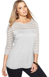 INC Illusion Top Gray