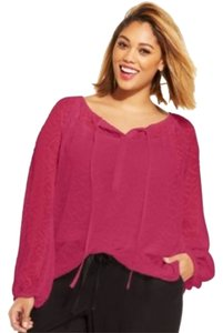 Jessica Simpson Top Raspberry
