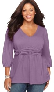 NY Collection Top Lavender