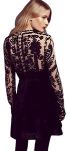 Free People Ginger Meadow Beaded Embellished Tea And Black Dress
