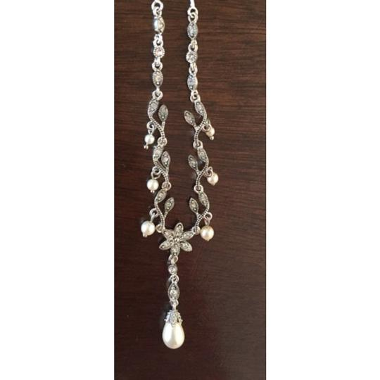 Other Pearl Drop Necklace and Earrings Set Image 2