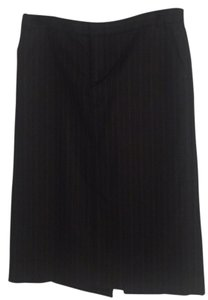 Banana Republic Skirt Charcoal with stripes