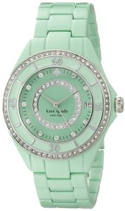 Kate Spade kate spade new york Women's Seaport Grand Green Enamel-Coated Steel Bracelet Watch 38mm 1YRU0688