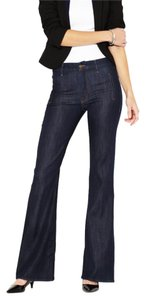 Mother Denim Low-rise High Waisted Flare Leg Jeans-Dark Rinse