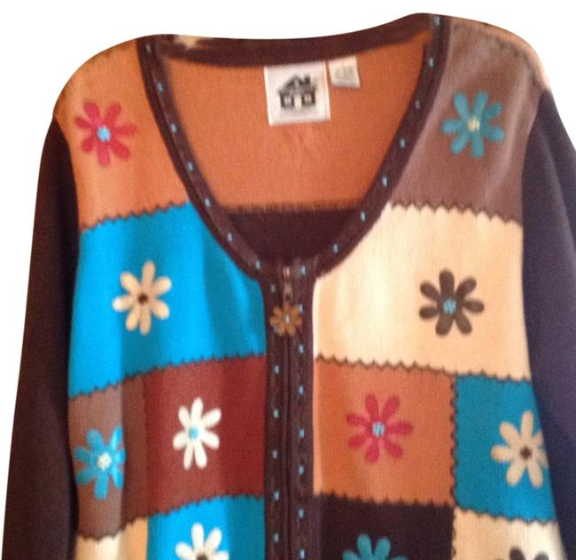 Preload https://img-static.tradesy.com/item/7411612/brown-rust-turquoise-beige-rust-sweaterpullover-size-14-l-0-1-650-650.jpg
