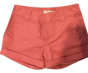 Tory Burch Cut Off Shorts Salmon