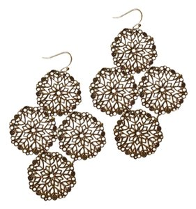 Avon Filigree disc chandelier earrings
