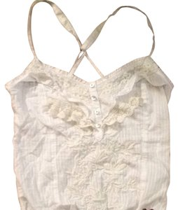 Hollister Top White, With Ivory Detail