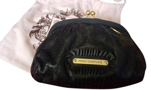 Juicy Couture Leather Perforated black Clutch