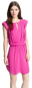Rebecca Taylor short dress Hot Pink Pleated Drop Waist on Tradesy