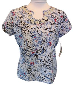 Brielle Blvd. Top Blue/White Multiclor