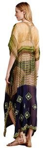 KAS New York Kas New York for Anthropologie Naija Caftan or Sarong/Cover-up Beaded & Embellished sz SM ~ Price Reduced~
