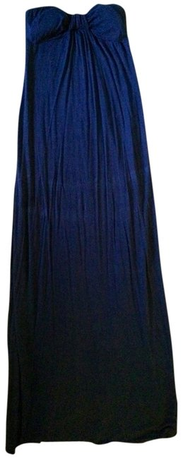 Navy Blue Maxi Dress by S&S Maxi Maxi Strapless Sleeveless Summer Cotton