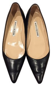 Manolo Blahnik Manolo Titto Leather black Flats