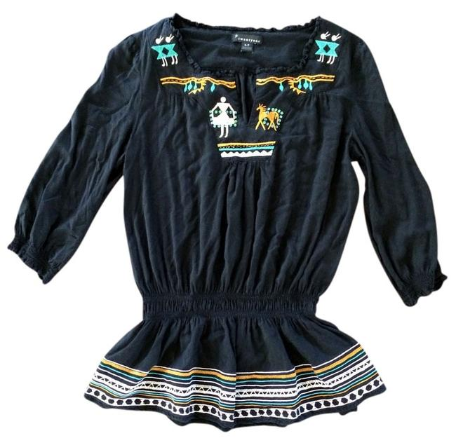 Forever 21 21 Sequins Aztec Elastic Lace Lace Trim Embroidered Tunic