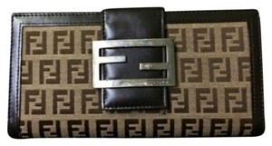 Fendi Fendi Buckle Zucca Long Wallet