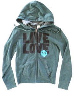 Mossimo Sweater Athletic Hooded Quote Jacket