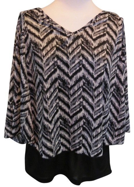 Preload https://item2.tradesy.com/images/brittany-black-blackwhite-new-with-tags-small-blouse-size-6-s-741491-0-0.jpg?width=400&height=650
