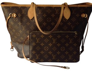 Louis Vuitton Neverfull Mm With Pouch Tote