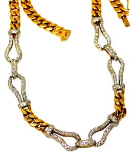 Italian Link Diamond Necklace