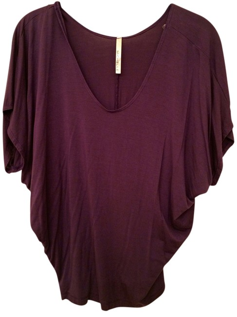 Michele Dolman Scoop Neck T Shirt Purple