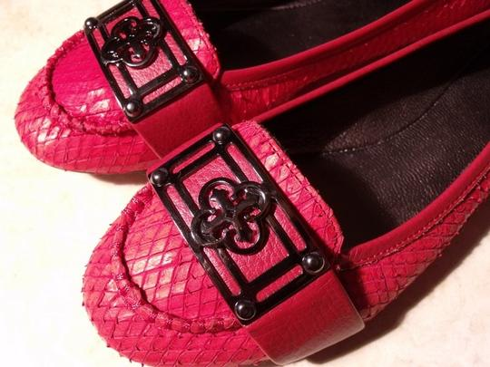 Isola Ballet New Without Box Red Snakeskin Leather Flats