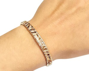 Roberto Coin Roberto Coin 18 Karat Rose Gold Bracelet With Engraved Zebra pattern