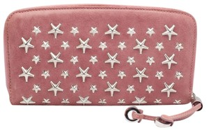 Jimmy Choo AUTH JIMMY CHOO Pink Filipa Leather with Stars Wallet