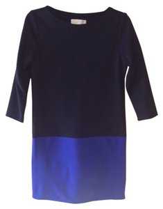 Michael Kors short dress BLACK AND BLUE Color Block Shift Two Tone on Tradesy