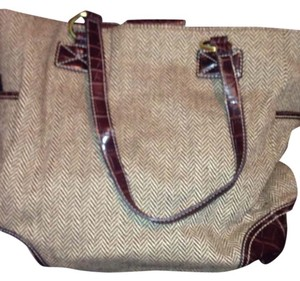 CHAPS 1978 Satchel in BROWN/BEIGE