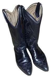 Guess By Marciano Leather Cowboy Black Boots
