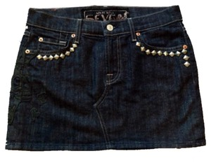 7 For All Mankind Mini Skirt Denim