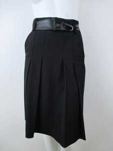 Elie Tahari Pleated Skirt Black