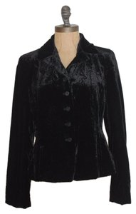 Jones New York Paisley Velvet Evening Formal BLACK Jacket