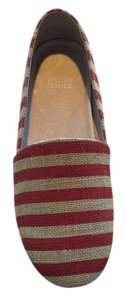 Eileen Fisher Red/Natural Stripe Flats