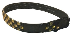 Wish Fall Black and Gold Studded Belt NWT