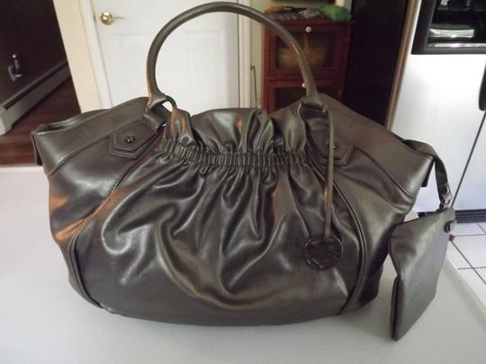 Style & Co Satchel in metallic pewter