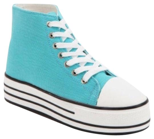 Urban Outfitters Size 7 Cyan Platforms