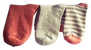 Urban Outfitters Melange Crew socks + striped socks : 3 pair assorment