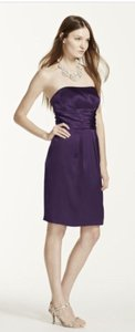 David's Bridal Purple Lapis 83707 Dress