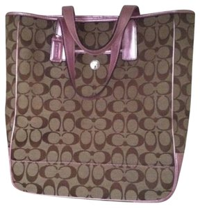 Coach Tote in Metallic Pink