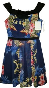Lashes of London short dress Blue Multi on Tradesy