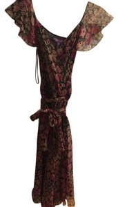 pink and brown Maxi Dress by Ralph Lauren Collection
