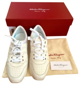 Salvatore Ferragamo White Athletic