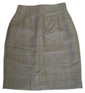 Evan Picone Skirt Grey, Silver