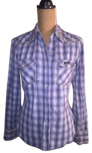 Lucky Brand Flannel Shirt Button Down Shirt Blue