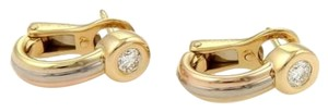 Cartier Cartier 18k Tri-color Gold Diamonds Trinity Earrings