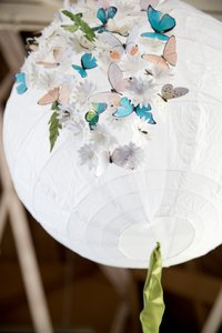 Paper Lanterns With Butterflies
