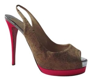 Christian Louboutin Cork and Pink Platforms